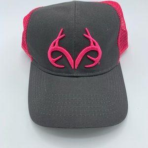 Realtree women cap SnapBack gray pink trucker hat